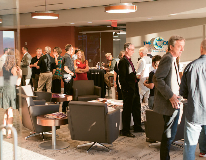 A collaborative space for climate scientists,  The Collider hosted the soiree.
