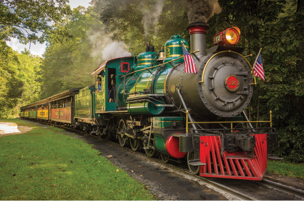 Riding through History: At Tweetsie Railroad, engine No. 12 is still riding the rails, 100 years after it first went into service.