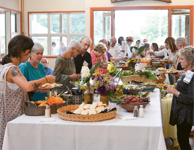 Auction artists and Penland donors enjoyed a Friday afternoon luncheon.