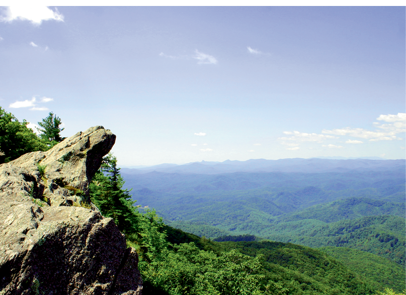 The Blowing Rock, a rocky outcropping with amazing views, is North Carolina's oldest attraction.
