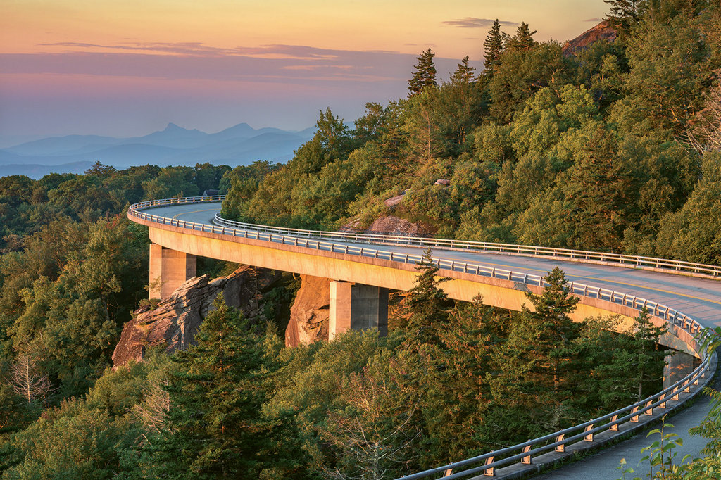 Sights to Behold: The Linn Cove Viaduct, at milepost 304 on the Blue Ridge Parkway near Blowing Rock, snakes around Grandfather Mountain. Stop by the visitor center at the south end of the viaduct to learn why it's considered an engineering marvel.